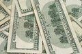 Close up american hundred dollar bills a image of Royalty Free Stock Photos