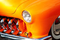 Close-up of American Vintage Car, Front Detail Royalty Free Stock Photo