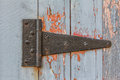 Close up of Antique Barn Hinge Royalty Free Stock Photo