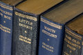 Close up antique books charles dickens Stock Photography