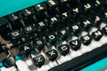 Close Up Of Antique Typewriter Keys. Old Manual Royalty Free Stock Photo