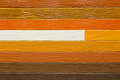 Close up of artificial wooden planks wall Royalty Free Stock Photo