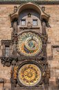 Close up at astronomical clock in the old town square prague czech republic Royalty Free Stock Image