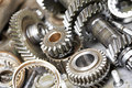 Close-up of automobile engine gears Royalty Free Stock Image