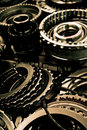 Close up automobile gear assembly Stock Photography