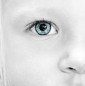Close up baby eye Stock Photos