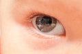 Close up of baby eye right Royalty Free Stock Photos