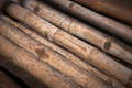 Close up background of dry thick bamboo poles Royalty Free Stock Images