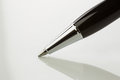 Close up ballpoint pen with shadow Royalty Free Stock Photo