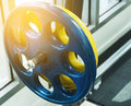 Close up barbell at the gym Royalty Free Stock Photo