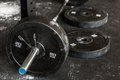Close-up of barbell Royalty Free Stock Photo