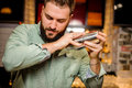 Close up barmans hands Royalty Free Stock Photo