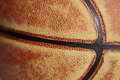 Close up of basketball Royalty Free Stock Photo