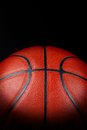 Close up basketball over black Stock Image