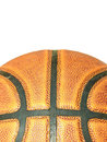 Close up Basketball surface or texture. Royalty Free Stock Photos
