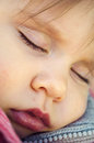 Close up of a beautiful baby sleeping Stock Photos