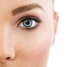 Close up of beautiful blue eye Royalty Free Stock Photo