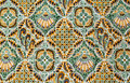 Close up pattern batik fabric Royalty Free Stock Photo