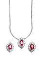 Close up of beautiful Ruby Diamond necklace. Royalty Free Stock Photo