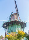 Close up big old historic Dutch windmill Royalty Free Stock Photo