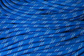 Close up of bight of dynamic rope using in sport climbing Royalty Free Stock Images