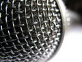 Close-up of a black mic Stock Image