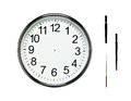 Blank silver clock with clipping paths Royalty Free Stock Photo