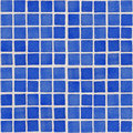 Close-up of blue ceramic glazed tile Royalty Free Stock Photo