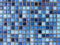 Close up of blue ceramic tiles Royalty Free Stock Photos
