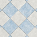 Close-up of blue and white ceramic glazed tile Royalty Free Stock Photo