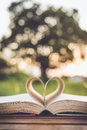 Close up book with heart Royalty Free Stock Photo