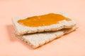 Close up bread crisps jam Stock Photo
