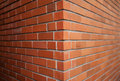 Close up of brick wall abstract architecture background block brickwall brickwork brown cement clay Royalty Free Stock Images