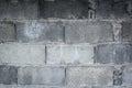 close up Brick wall gray brick With texture