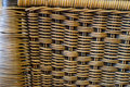 Close up brown bamboo basket texture background