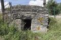 Close up of bunker wimbledon in belgium Royalty Free Stock Photos