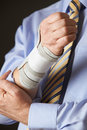 Close up of businessman suffering with repetitive strain injury rsi Stock Photography