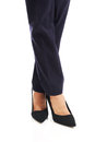 Close up on businesswoman slim legs in high heels Royalty Free Stock Image