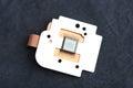 Close-up of camera sensor chip