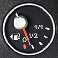 Close up of car fuel meter Royalty Free Stock Photography