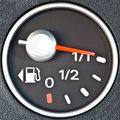Close up of car fuel meter Royalty Free Stock Photo