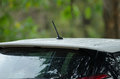 Close up car radio antenna Royalty Free Stock Photo
