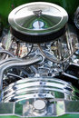 Close up of car s engine american classic car us Royalty Free Stock Photo