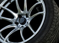 Close up car wheels for with background Royalty Free Stock Photo