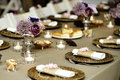 Close-up catering table set Royalty Free Stock Photo