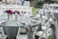 wedding table set Royalty Free Stock Photo