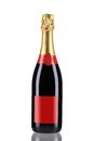 Close up of champagne bottle. Royalty Free Stock Photo