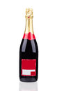 Close up of champagne bottle on a white background Stock Photos