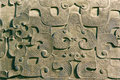 The close up of chinese archaic bronze pattern Stock Photography