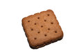 Close up chocolate biscuit Royalty Free Stock Photo